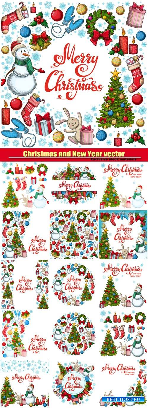 Christmas vector  illustration for decoration, Christmas icons