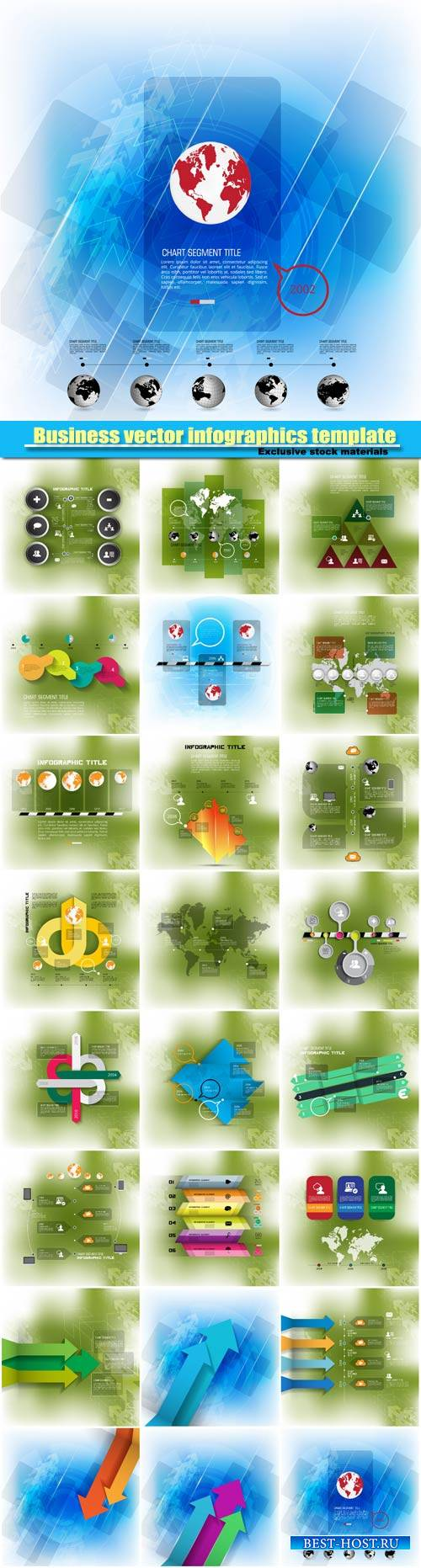 Business vector infographics template