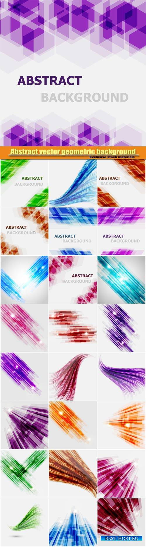 Abstract vector geometric background,  wave element design