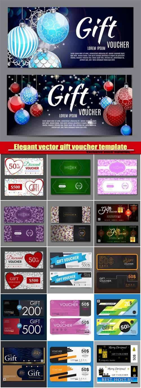 Elegant vector gift voucher template