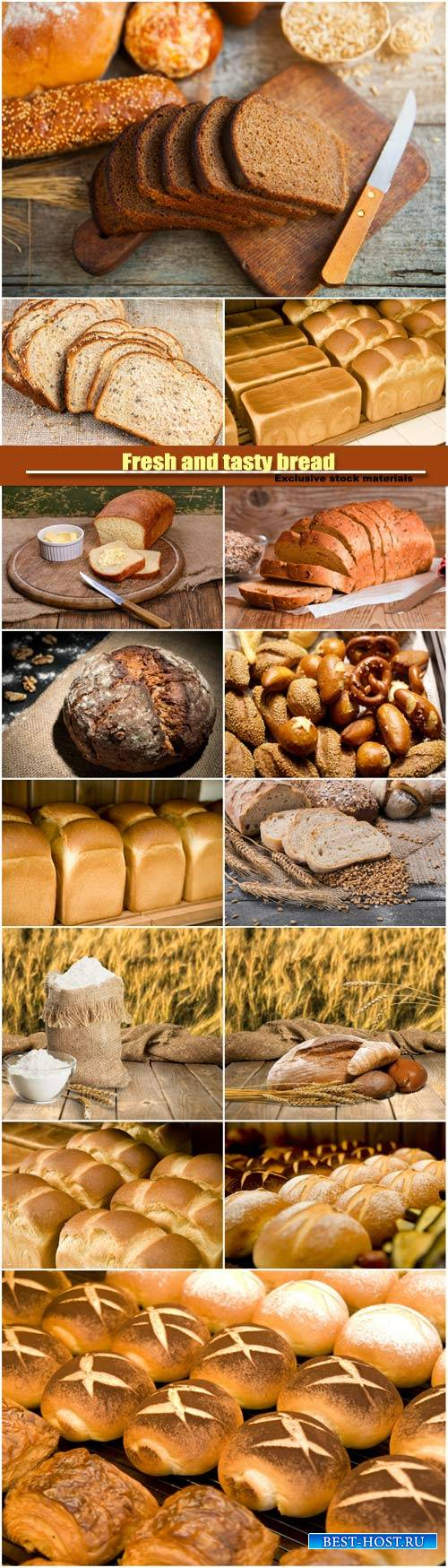Fresh and tasty bread, various pastry and bakery