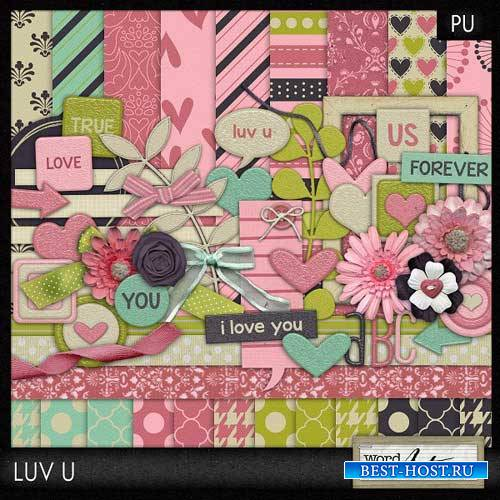 Романтический скрап-набор - Luv U