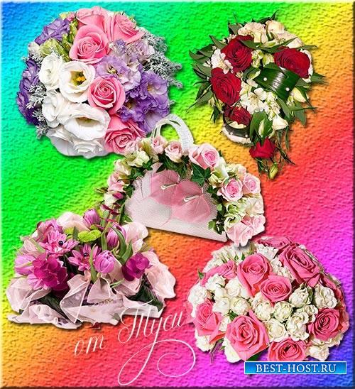 Букеты цветов - Клипарт / Clipart - Bouquets of flowers