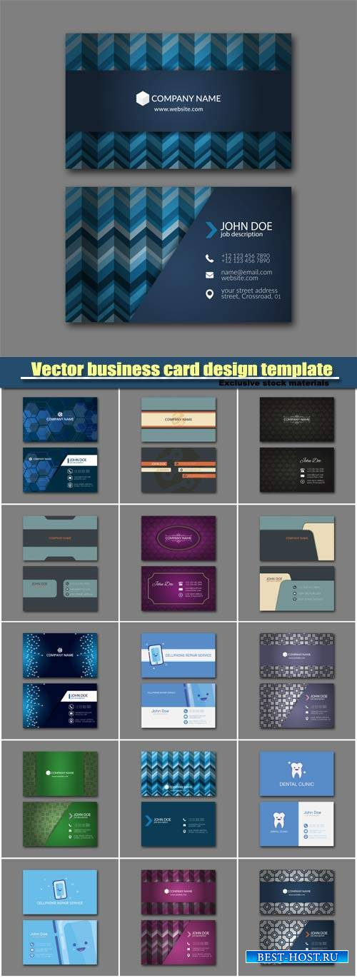 Stylish vector business card design template