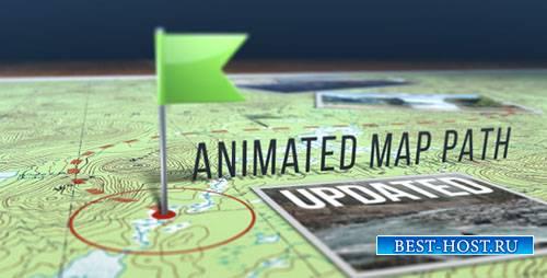 Анимированный Путь По Карте - Project for After Effects (Videohive)