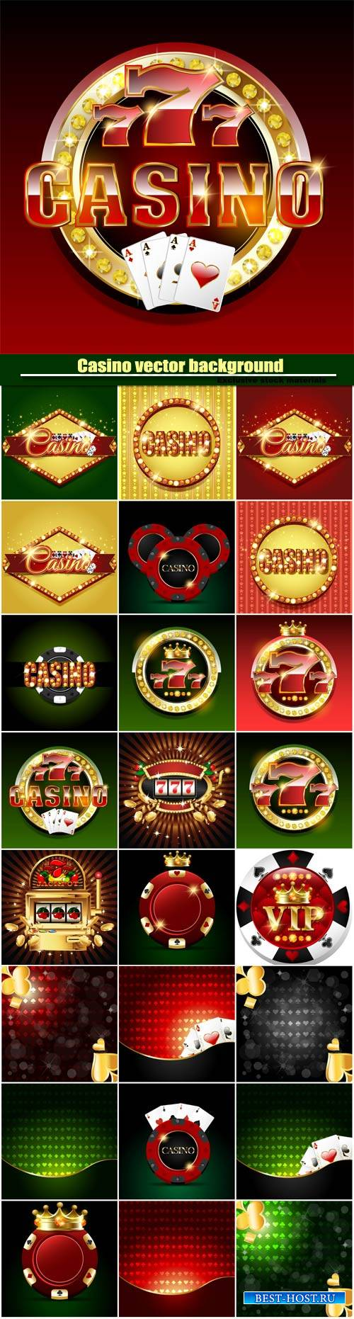 Casino vector background, slot machine on shiny background