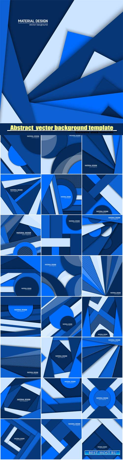 Abstract creative layout vector background template