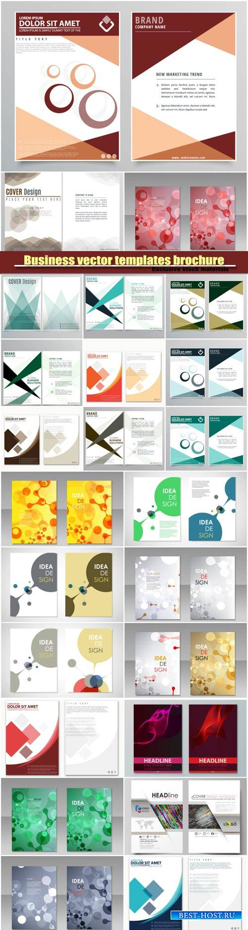 Abstract vector flyer templates brochure, colored cover image texture