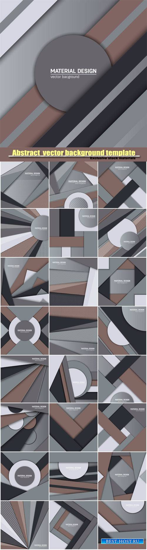 Abstract creative layout vector background template #3