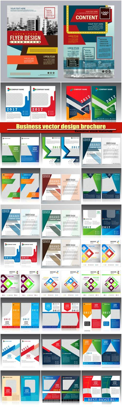 Business vector design brochure, creative flyer template
