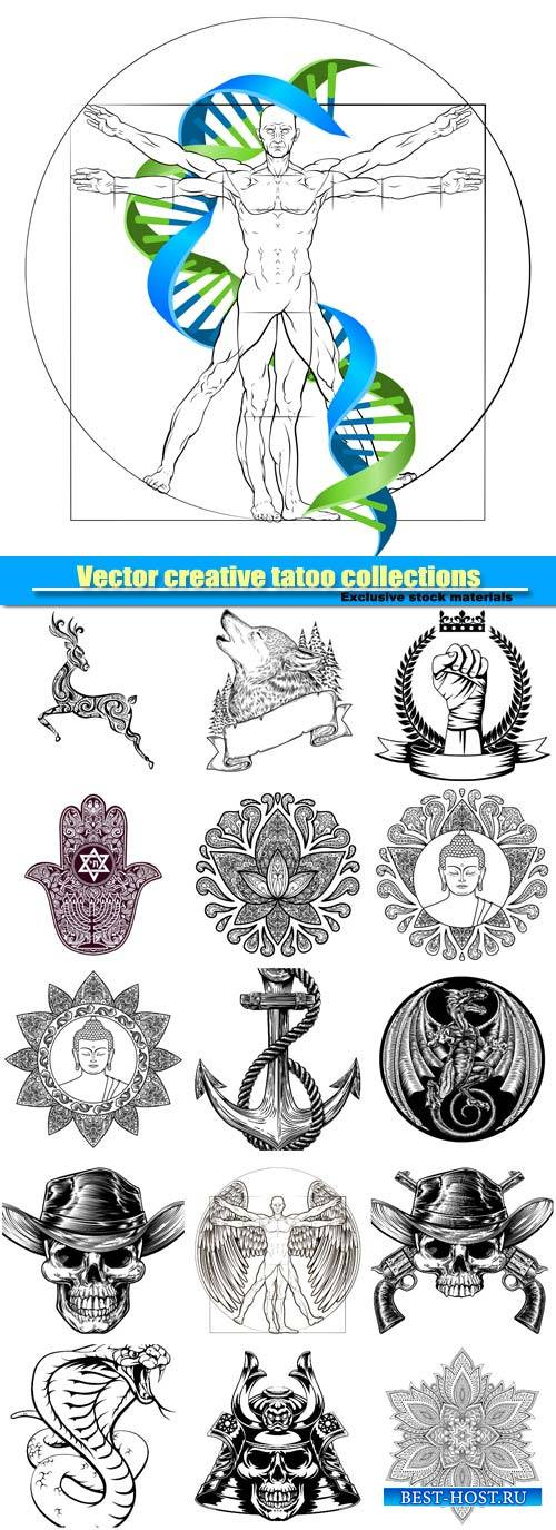 Vector creative tatoo collections