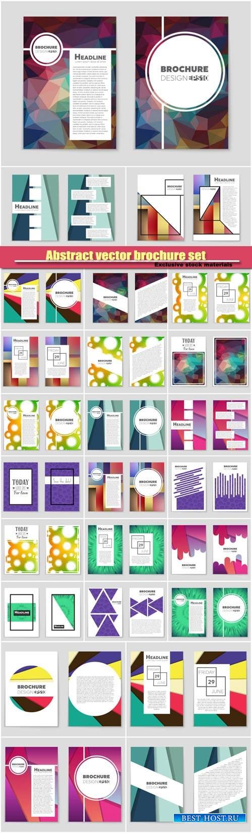 Abstract vector brochure background set