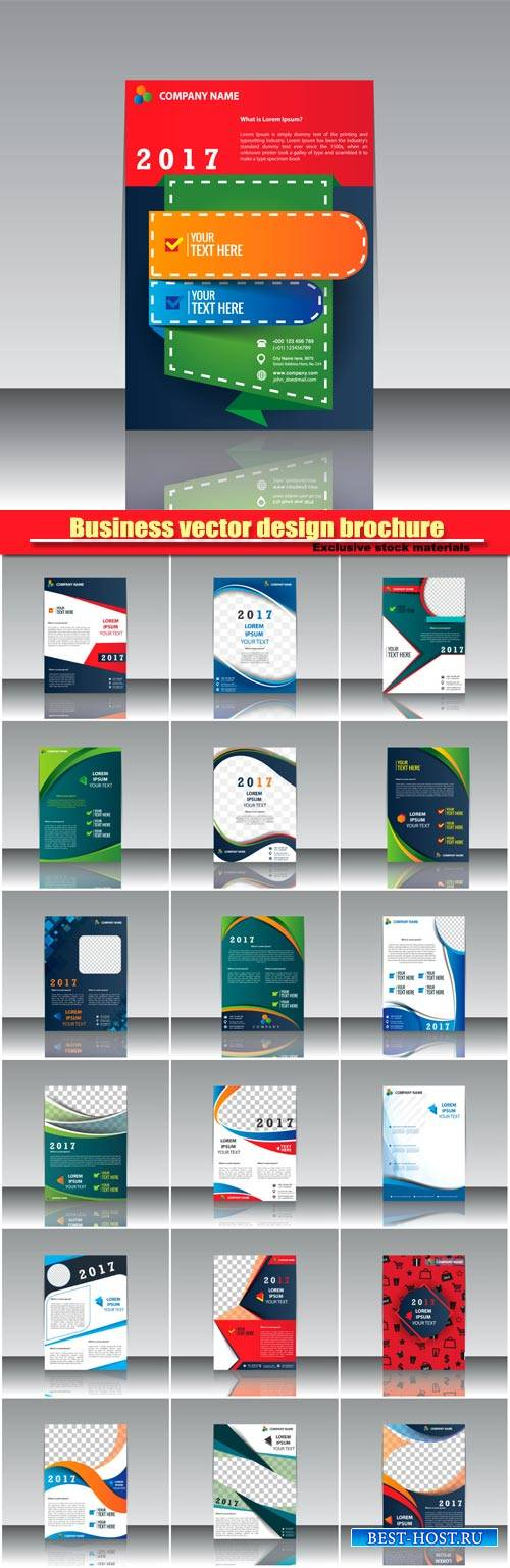 Business vector design brochure, creative flyer template #16