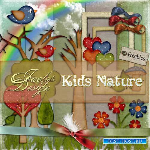 Детский скрап-набор - Kids Nature