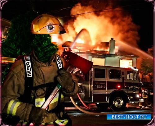 Шаблон фотошоп шаблон для фото - Пожарник