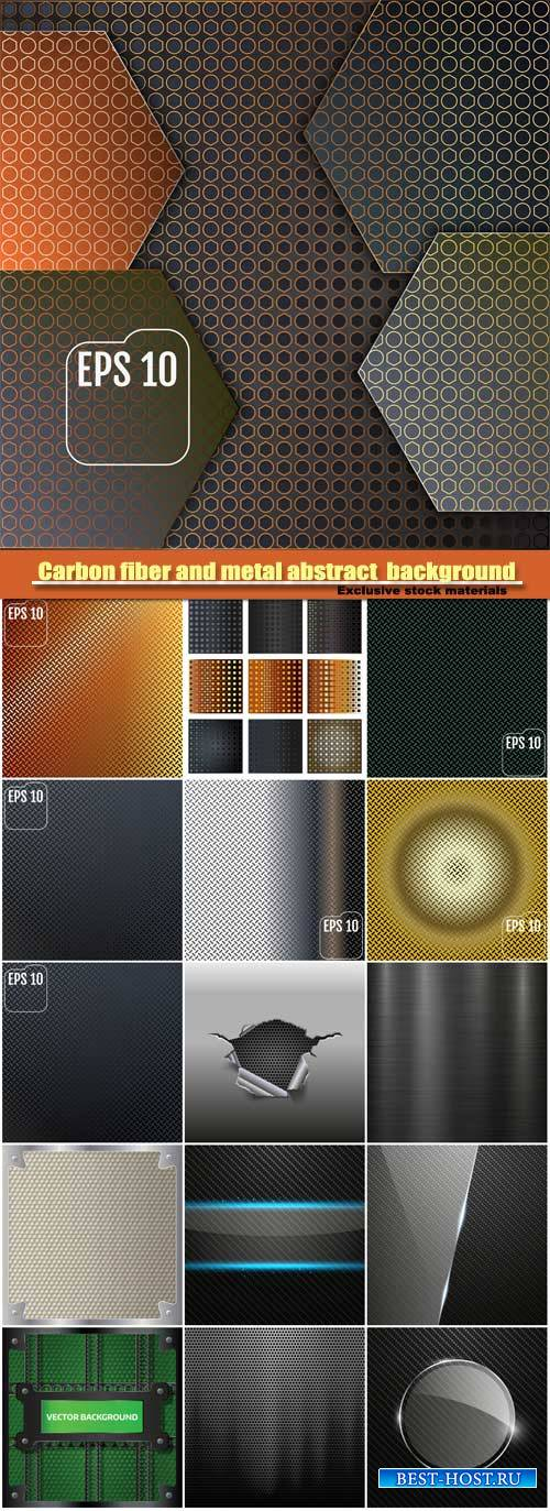 Carbon fiber and metal abstract vector background