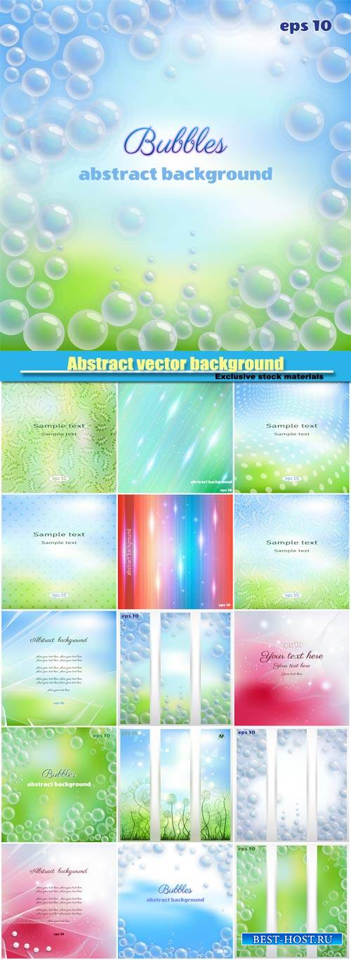 Abstract vector background, background with bubbles