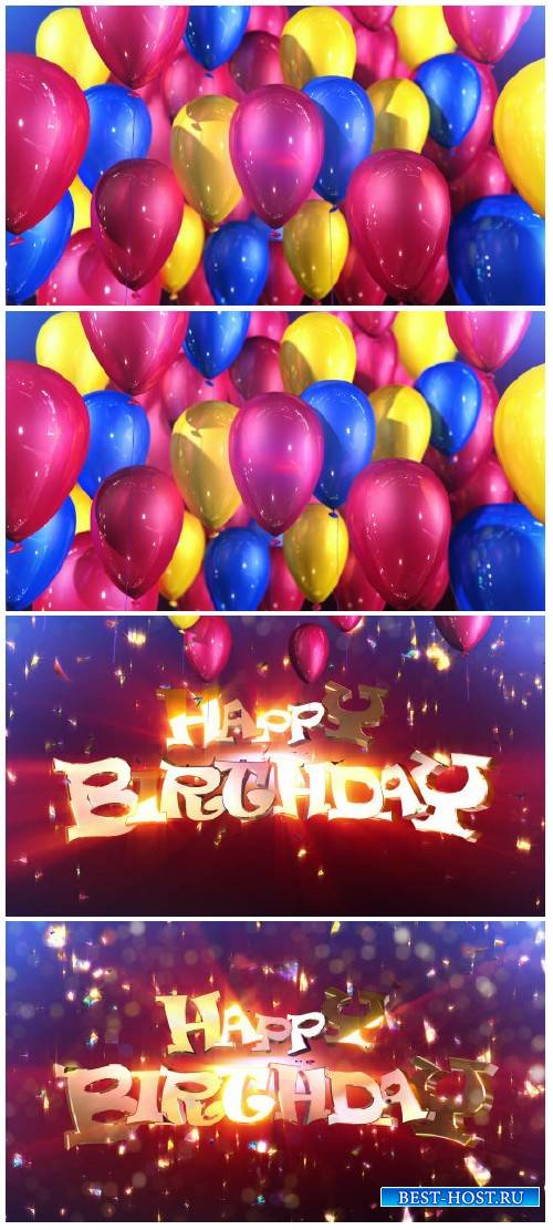 Video footage Happy birthday animation surprise HD