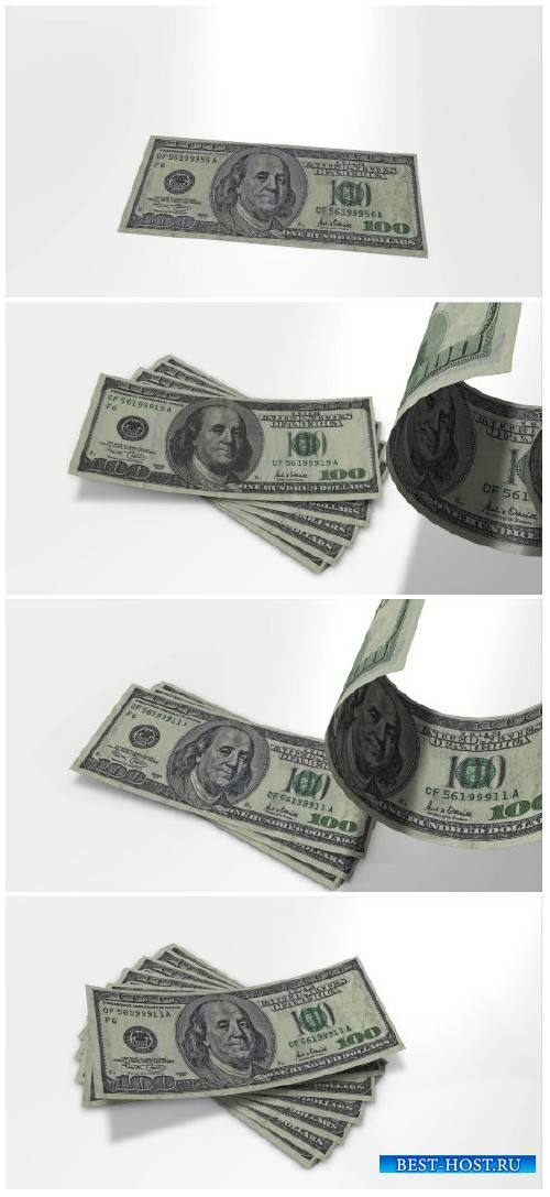 Video footage 100 dollar bills in slow motion