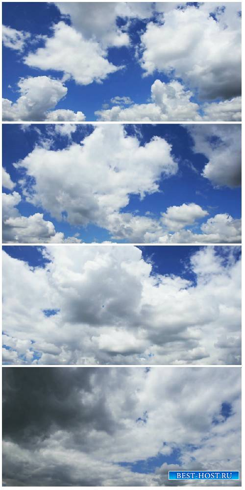 Video footage Beautiful white clouds and sky in time lapse HD