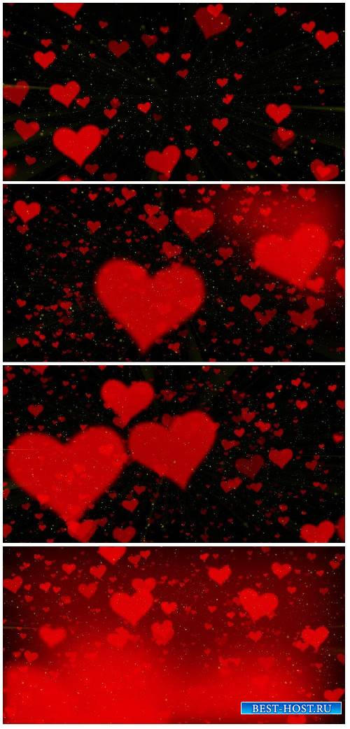 Video footage Valentine background, flying heart
