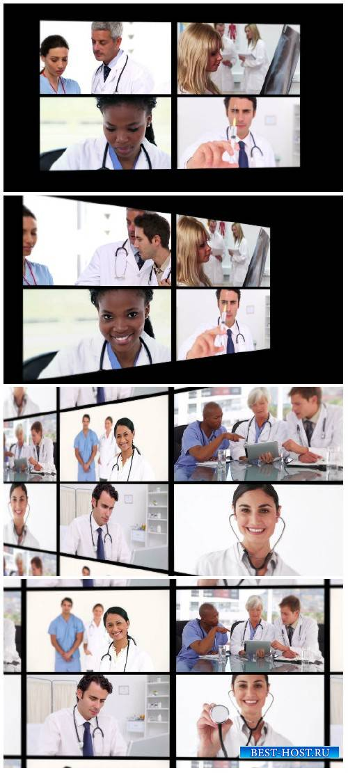 Video footage Several different short clips showing doctors ending