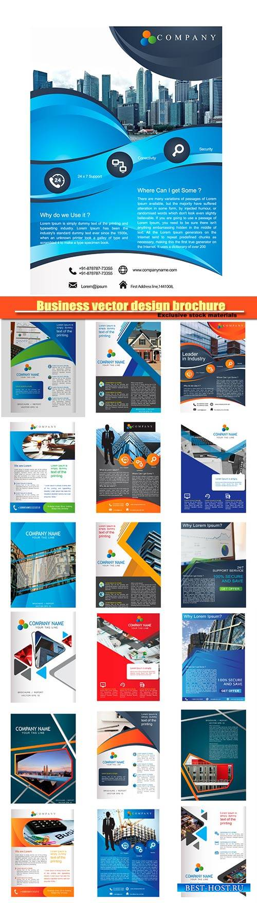 Business vector design brochure, banner template