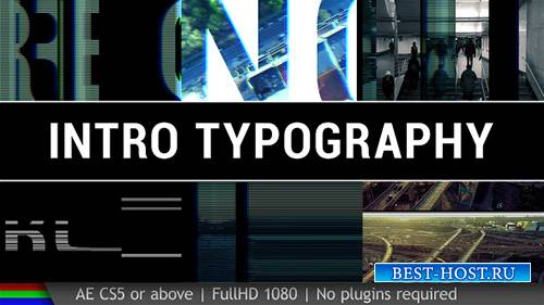 Интро Типографика - Project for After Effects (Videohive)