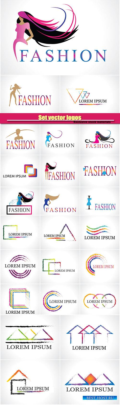 Set vector logos, company business templates