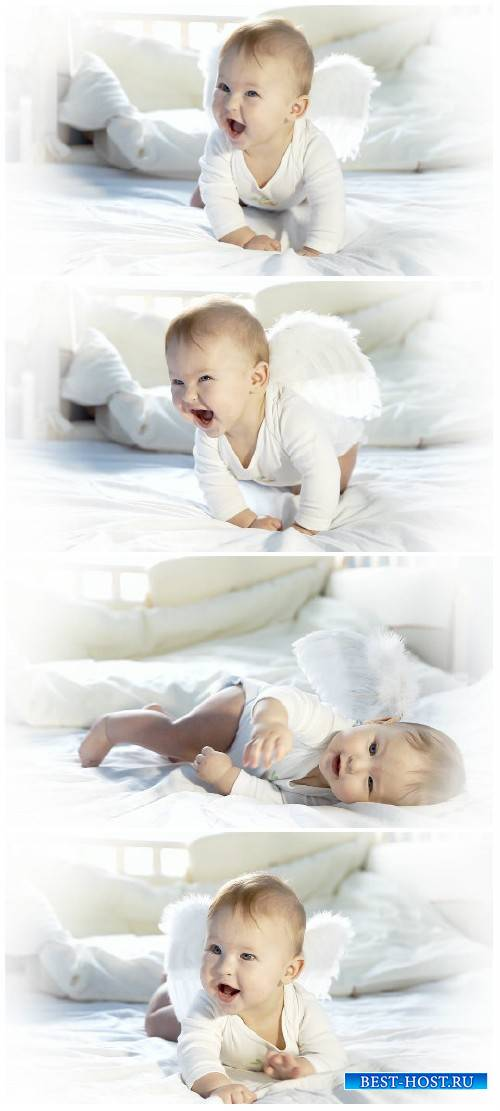 Video footage Baby angel on the bed