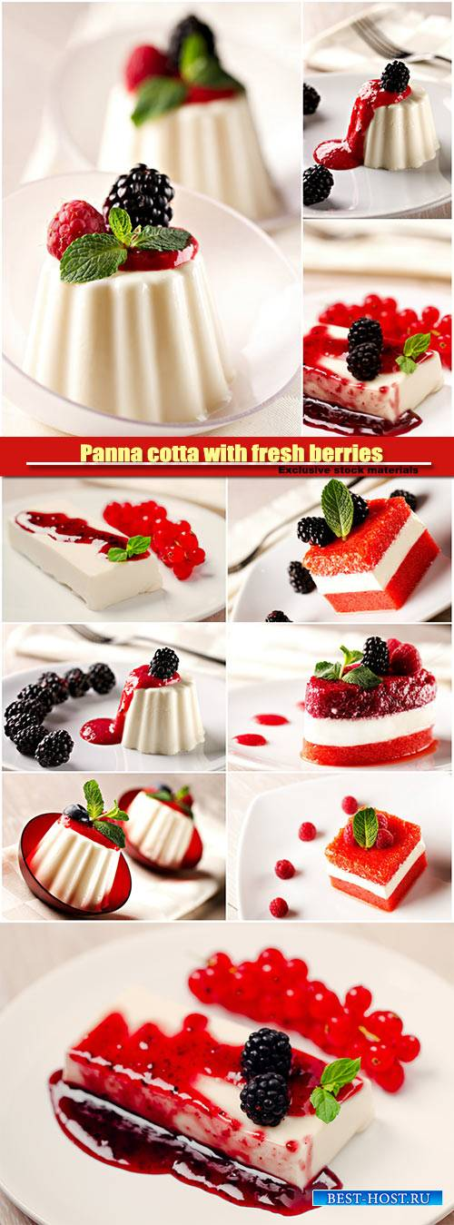 Panna cotta with fresh berries