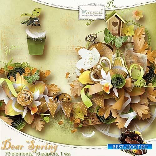 Цветочный скрап-набор - Долгожданная весна