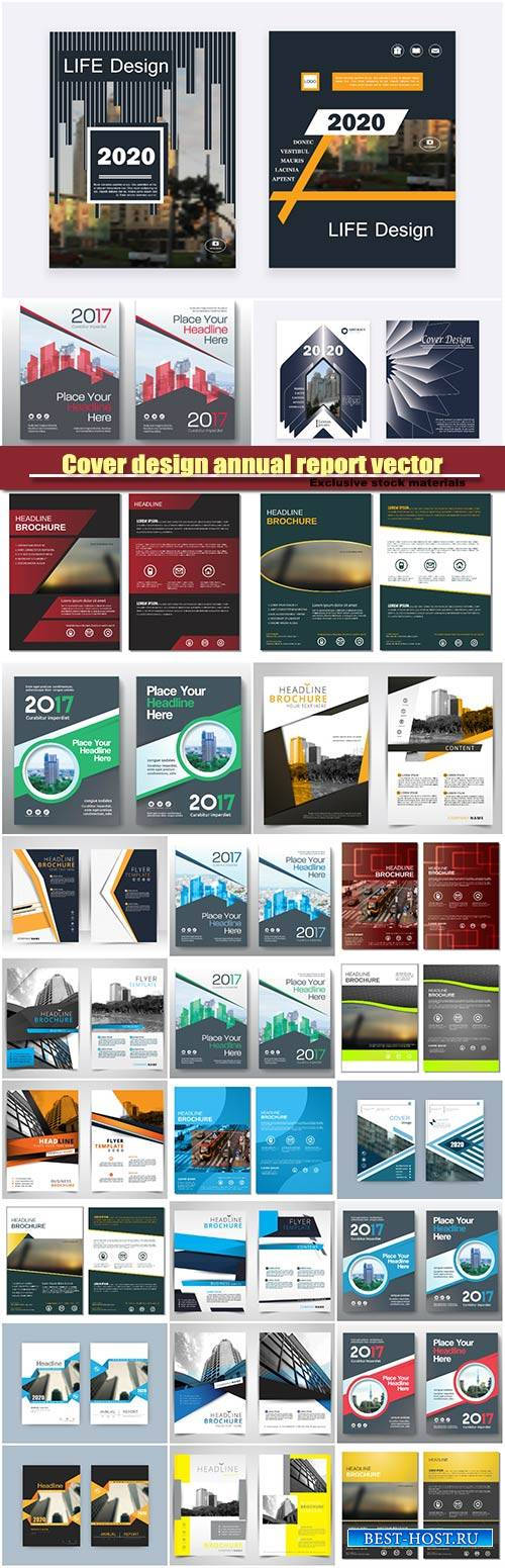 Cover design annual report vector template brochures