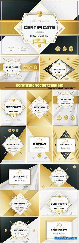 Certificate vector template, diploma design