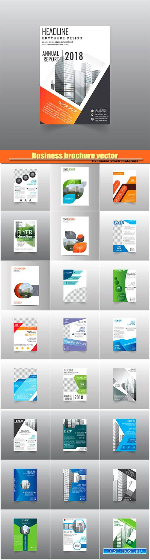 Business brochure vector, flyers templates #9