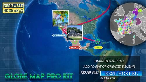 Глобус Карта Профессиональный Комплект - Project for After Effects (Videohi ...