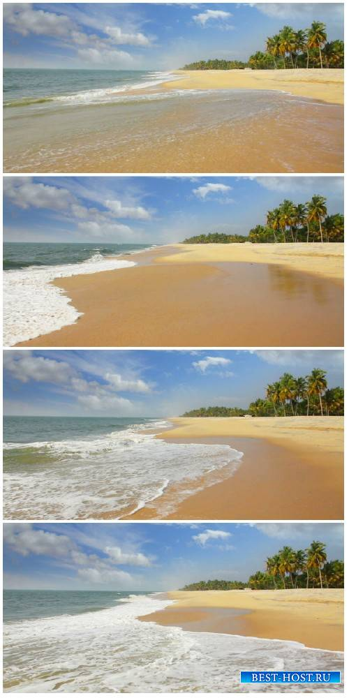 Video footage beautiful beach landscape