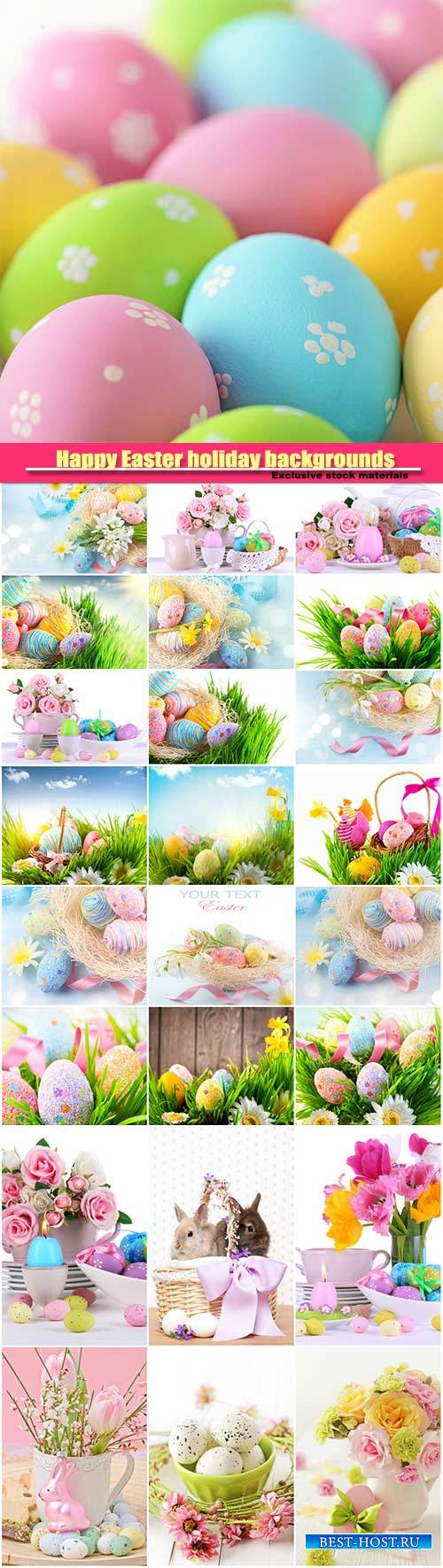 Happy Easter holiday backgrounds, Easter eggs