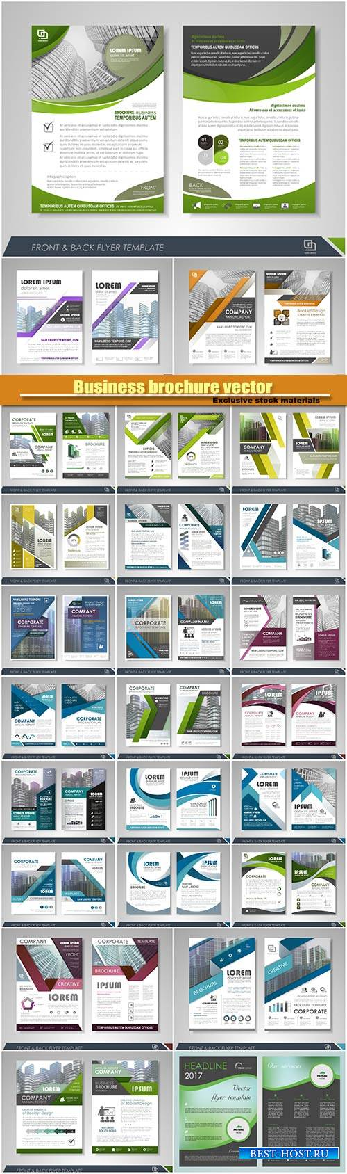 Business brochure vector, flyers templates #11