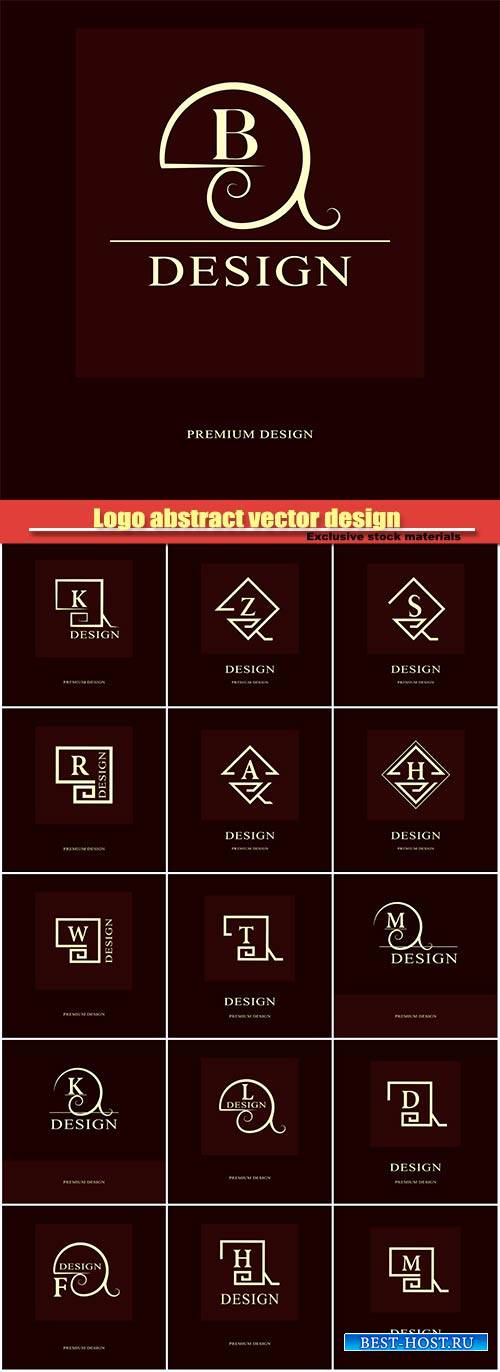 Logo abstract vector design, luxury monogram