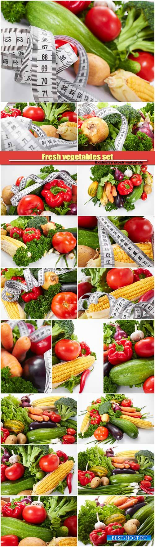 Fresh vegetables set