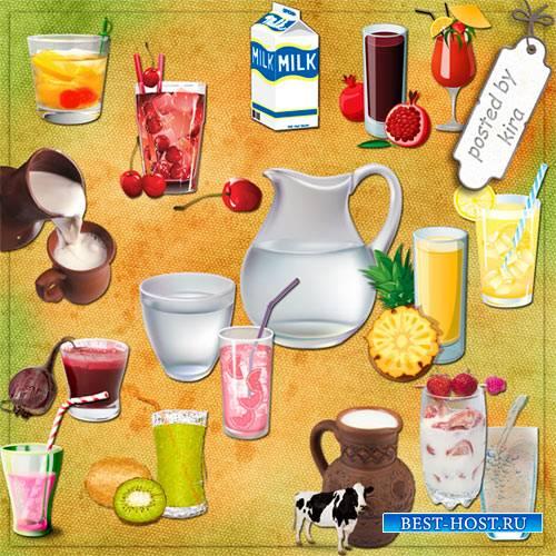 Клипарт - Безалкогольные напитки на прозрачном фоне