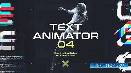 Текст Аниматор 04: Названия Движения Глюк - Project for After Effects (Vide ...
