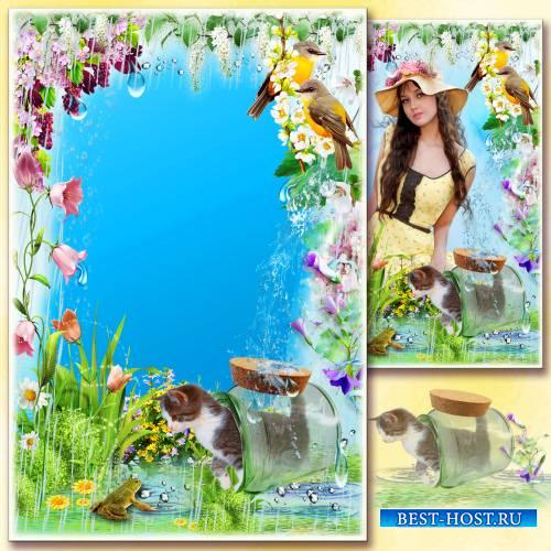 Рамка для фото - Весенний дождик