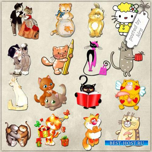 Клипарт - Котята, милые кошечки (по коллекциям)