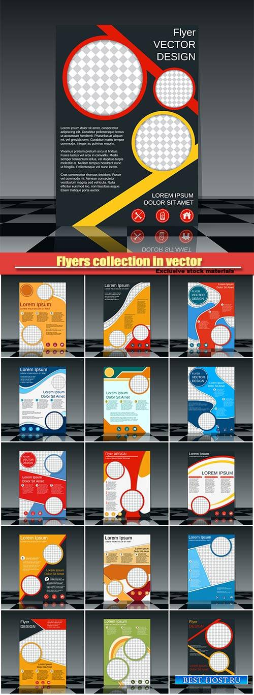 Flyers collection in vector