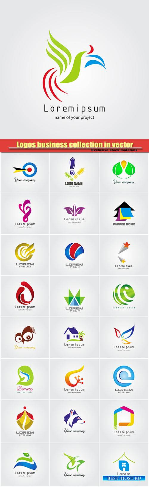 Logos business collection in vector #11