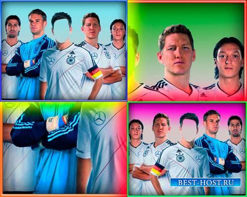 Psd шаблон мужской - Немецкие футболисты