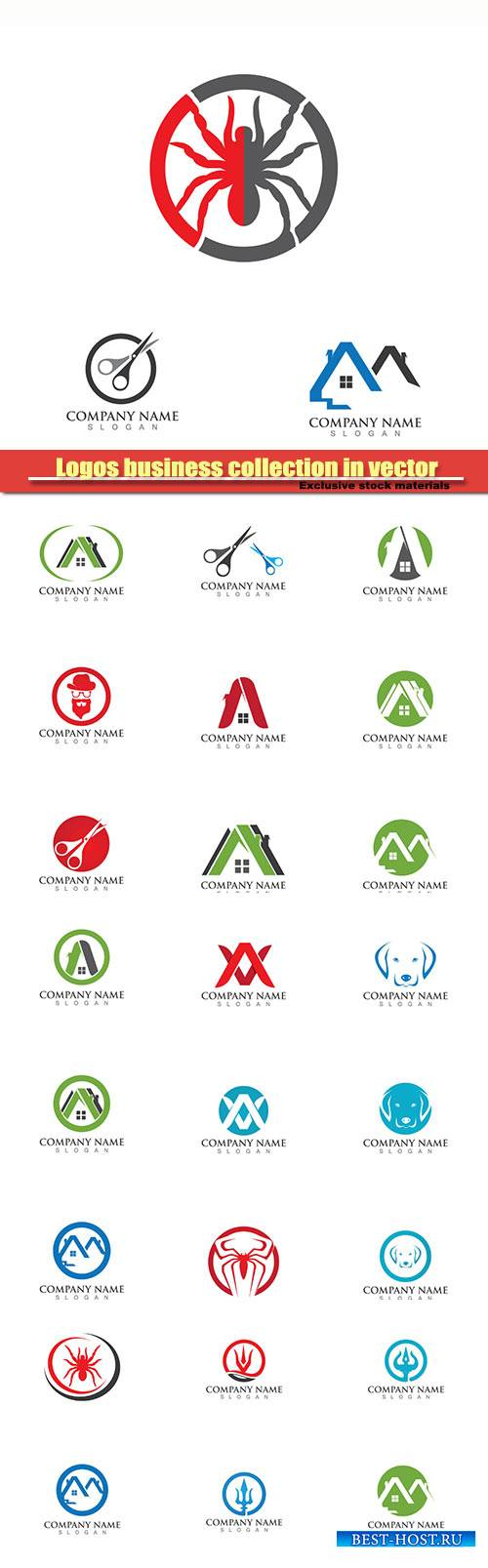 Logos business collection in vector #27