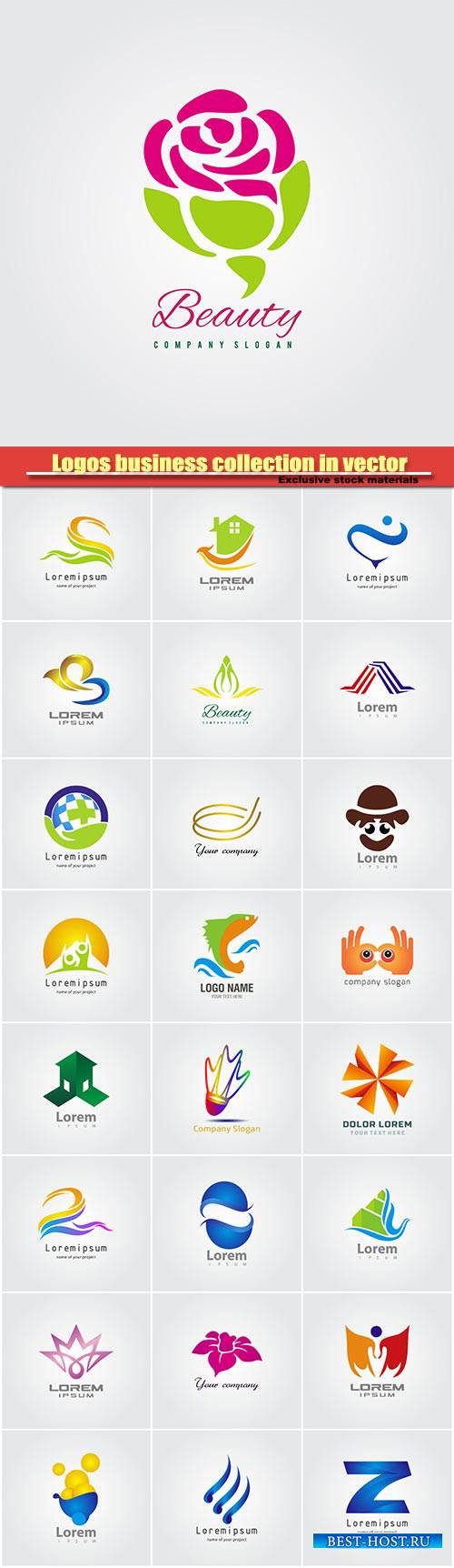 Logos business collection in vector #26
